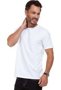 Camiseta Olimpo Camisaria Meia Malha Gola Redonda Manga Curta Branco - Branco - Masculino - Algodã£O - Dafiti