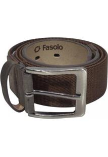 Cinto Fasolo - Masculino-Cafe