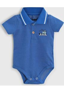 Body Brandili Infantil Polo Azul