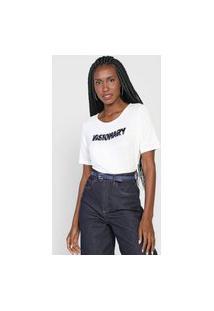 Camiseta Mob Bordado Visionary Off-White/Azul