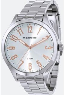 Kit Relógio Feminino Mondaine 76727L0Mvne2Ka Analógico 5Atm + Conjunto Semijóia