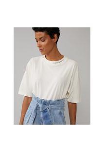Amaro Feminino T-Shirt Um Passo De Cada Vez, Off-White
