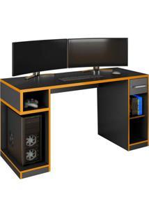 Mesa Gamer Idl Xp 1000 Pro Preto/Laranja Germai Móveis