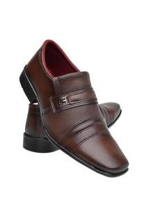 Sapato Social Masculino Macio Confortável Dia A Dia Elegante Marrom 39 Marrom