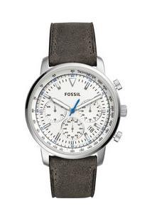 dd6c01db6eb Off Premium. Relógio Fossil Masculino Goodwin Chrono Prata ...