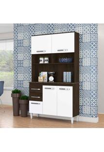 Cozinha Compacta Aline 4 Pt 3 Gv Ravello E Branco