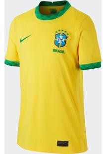Camisa Nike Brasil 2021 I Jogador Amarela Infantil
