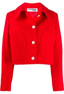 Courrèges Button-Up Jacket - Vermelho