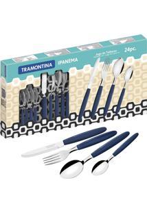 Conjunto De Talheres 24 Pçs Ipanema Azul 23399162 Tramontina