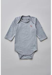Body Bebê Reserva Mini T Malha Básico Masculino - Masculino-Cinza