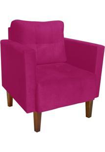 Poltrona Decorativa Lívia Para Sala E Recepção Suede Pink - D'Rossi