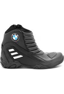Bota Atron Shoes Motociclista Preta