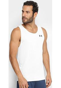 Regata Under Armour Tech 2.0 Masculina - Masculino-Preto+Branco