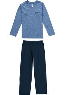 Pijama Azul Vespa Super Filho
