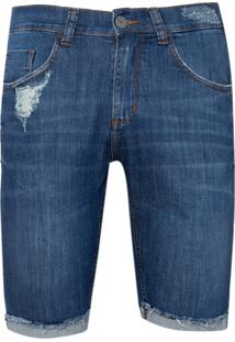 Bermuda John John Clássica Iorque Jeans Azul Masculina (Jeans Medio, 36)