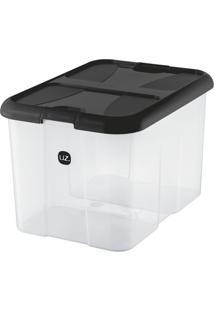 Caixa Organizadora Plus Preta 40 L