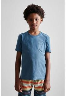 Camiseta Masculina Infantil Mini Pf Bolsinho Estonada Ver19 Reserva Mini - Masculino-Azul Petróleo
