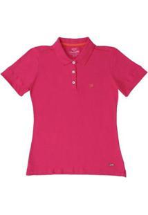 5a38320444 Camisa Polo Gola Wrangler Feminina - Feminino-Rosa