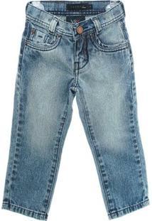 Calça Jeans - Masculino-Azul