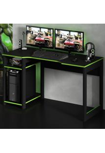 Mesa Gamer Destiny Ideal Para 3 Monitores Preto/Verde - Tecno Mobili