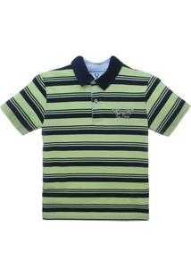 Camiseta Polo Manga Curta Listrado - Vr Kids - Masculino