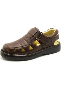 Sandália Masculina Doctor Shoes 302 Marrom