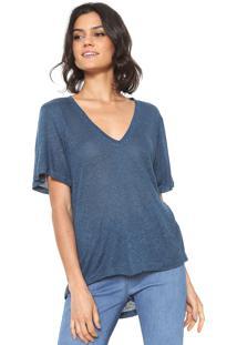 Camiseta Maria Filó Lisa Azul
