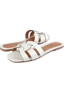 Rasteira Trivalle Shoes Verniz Off White