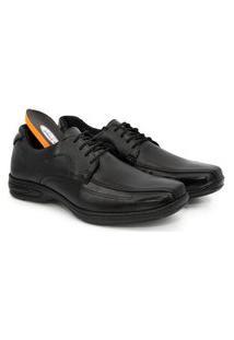 Sapato Social Couro Masculino Macio Confortável Dia A Dia Marrom 38 Preto