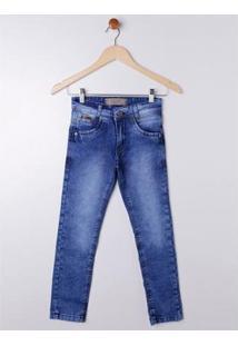 Calça Jeans Juvenil Imports Baby Masculina - Masculino-Azul