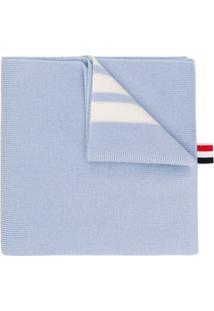 Thom Browne Cachecol Com Pompom - Azul
