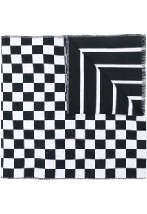 Versace Cachecol Estampado Com Logo - Branco