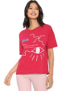Camiseta Cantão Etimologia Olhar Pink - Kanui
