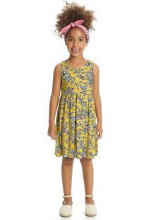 Vestido Infantil Amarelo