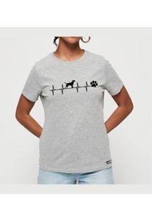 Camiseta T-Shirt Eletrodog Buddies Feminina - Feminino-Mescla