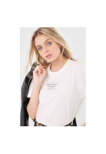 Camiseta Colcci Serendipity Off-White