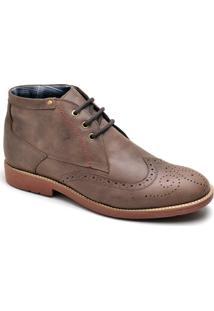45a0fd82e2 Sapato Casual Couro Cano Alto Retaoposta Fly Masculino - Masculino-Marrom  Claro