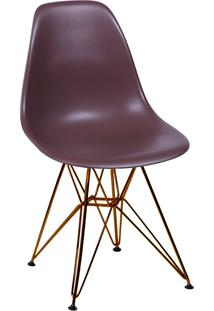 Cadeira Com Base Em Cobre 1102-Or Design - Café