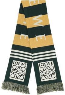 Loewe Cachecol De Tricô Com Logo - Verde