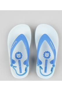 b4e14040db35b8 Chinelo Infantil Ipanema Com Elástico Azul Claro