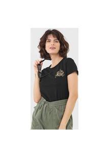 Camiseta Maria Filó Câncer Preta