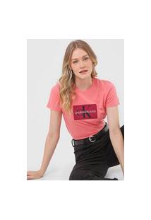Camiseta Calvin Klein Jeans Issue Rosa