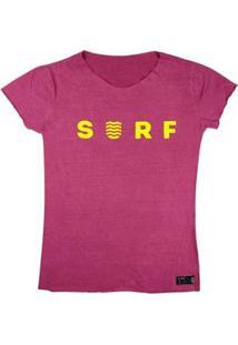T-Shirt Wss Estonada Yellow Neon - Feminino-Rosa