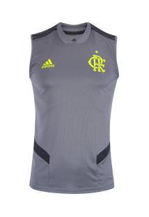 Camiseta Regata De Treino Do Flamengo 2019 Adidas - Masculina - Cinza
