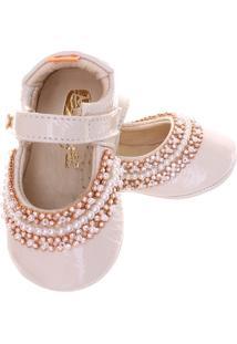 Sapato Boneca Mogly Verniz Marfim - Feminino