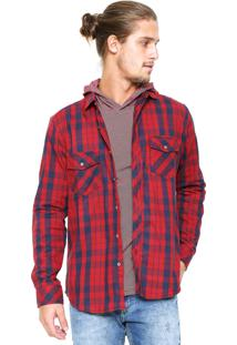 0f49c5a873 Camisa Malwee Xadrez Slim Vermelha
