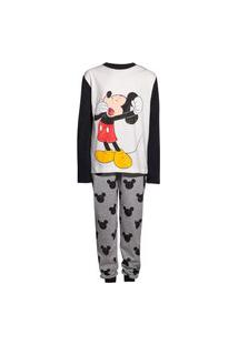 Pijama Hering Kids Família Infantil Mickey And Friends Off White