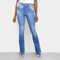 09aa339aa Calça Jeans Flare Sawary Estonada Cintura Alta Super Lipo Feminina -  Feminino-Azul