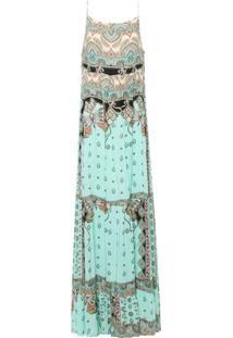 Vestido Marias Leveza Oriental - Azul