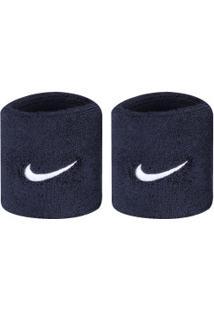 Munhequeira Nike Swoosh Wristbands C2 - Adulto - Azul Esc/Branco
